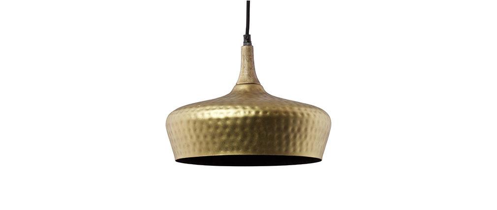 h ngeleuchte industrie stil metall goldfarben martelle miliboo. Black Bedroom Furniture Sets. Home Design Ideas