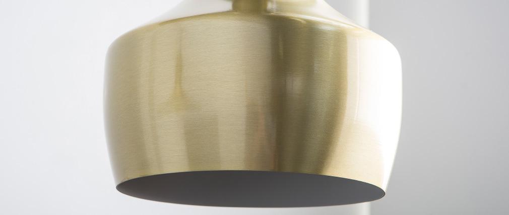 Hängeleuchte TUBAE aus goldfarbenem Metall, Ø 25 cm