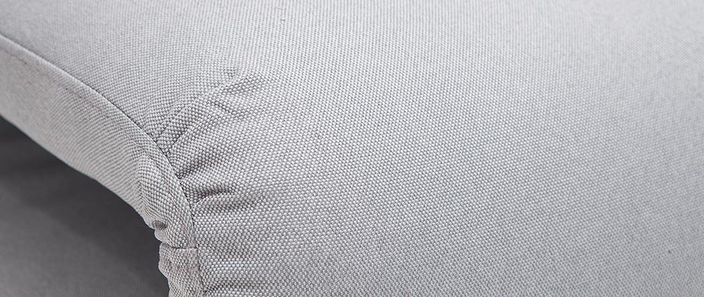 Hellgrauer wandelbarer Kaminsessel SLEEPER