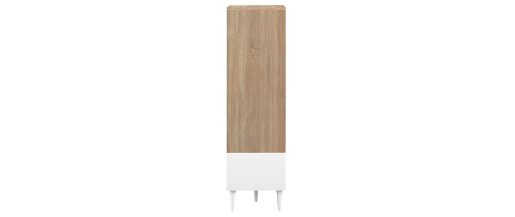 Highboard skandinavisch weiß und Holz STRIPE