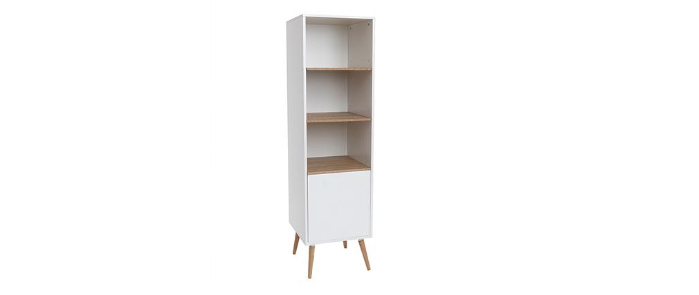 Hochschrank Badezimmer weiß und Holz TOTEM
