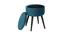 Hocker mit Stauraum blaugrüner Samt MADO