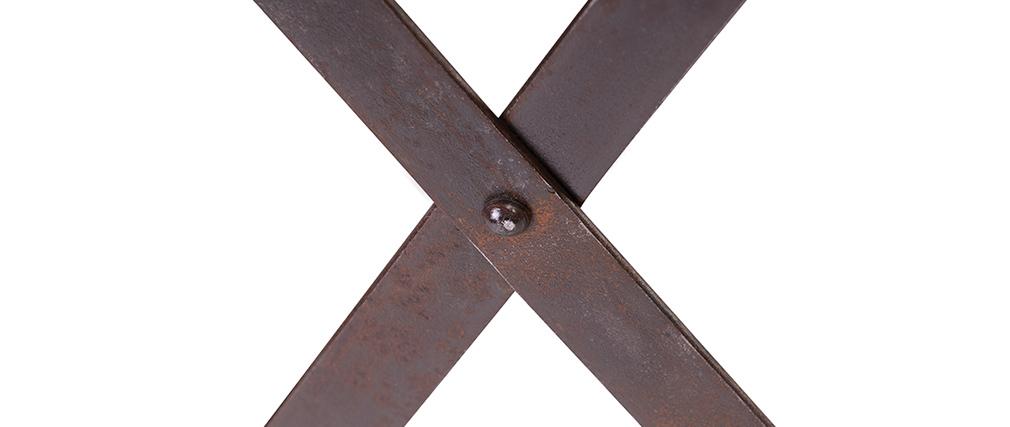 Hohe industrielle Konsole ATELIER Holz und Metall
