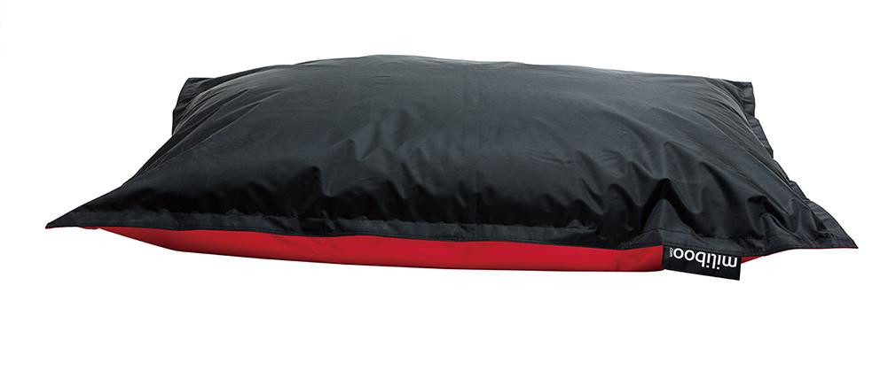 Husse für zweifarbigen Riesen-Sitzsack BIG MILIBAG Schwarz und Rot