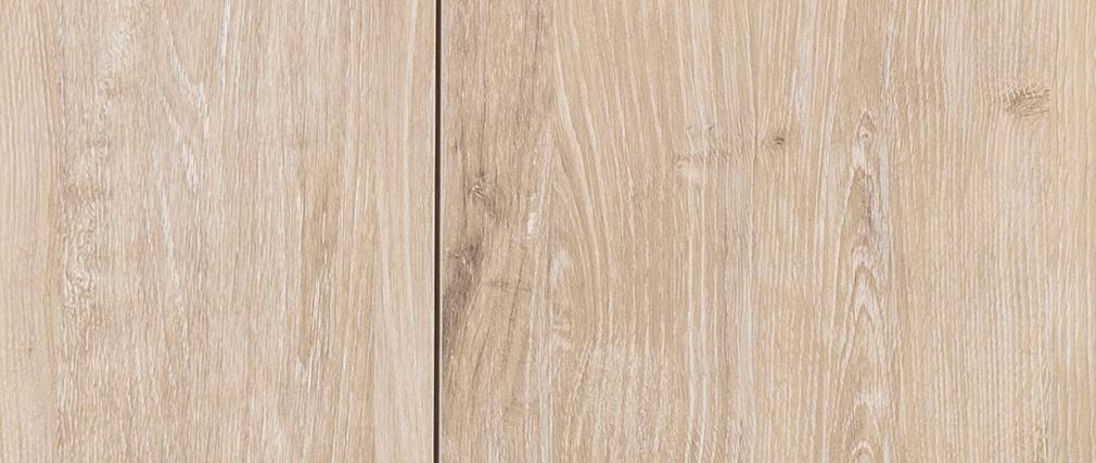 Industrielle Anrichte Metall und gebleichtes Holz TRESCA