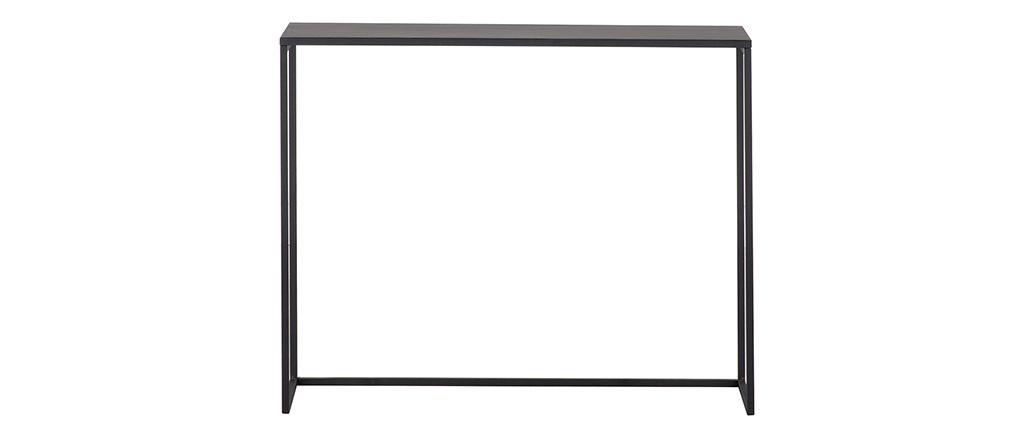 Industrielle Konsole schwarzes Metall L100 cm KARL