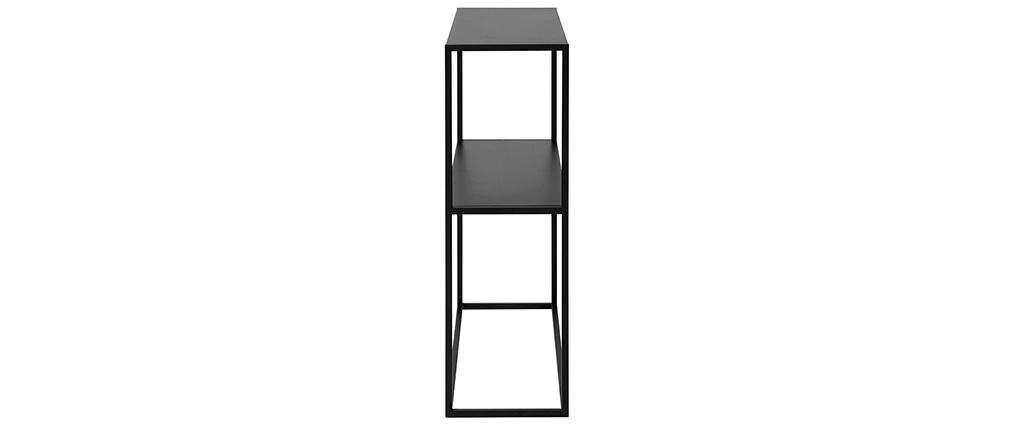 Industrielle Metallkonsole BRITA schwarz L80 cm