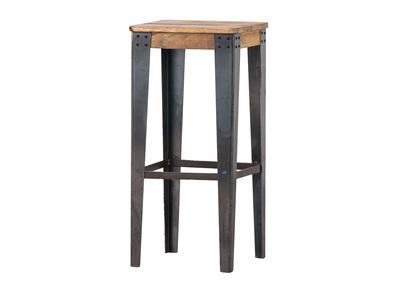 Industrieller Barhocker MADISON Stahl und Holz 75 cm