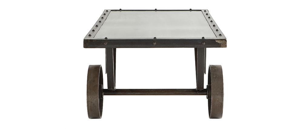 Industrieller Couchtisch Chariot Metall Miliboo
