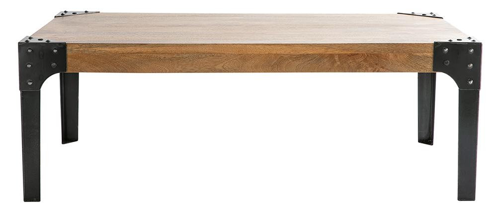 Industrieller Couchtisch MADISON Metall und Holz