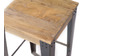 Industrieller Design-Hocker Metall und 65 cm MADISON