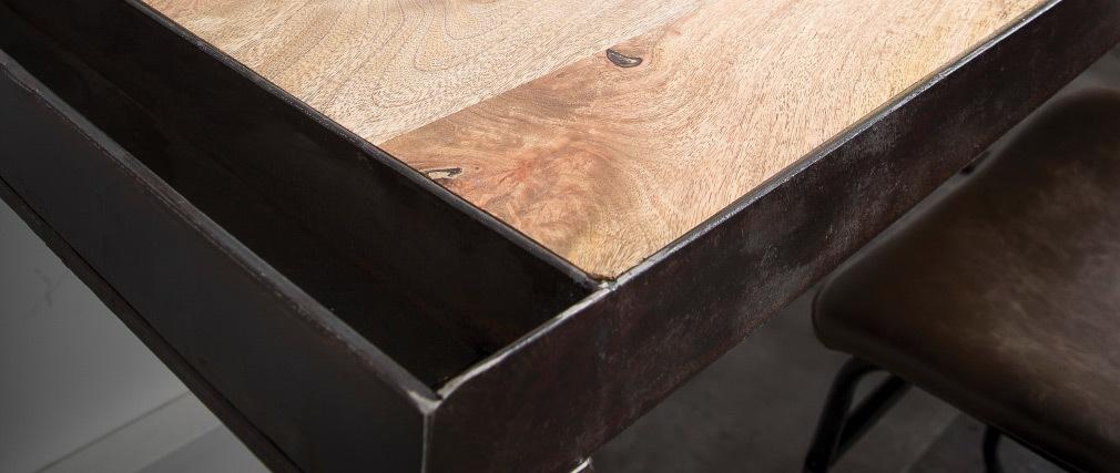 Industrieller Design-Schreibtisch aus Massivholz L156 INDUSTRIA