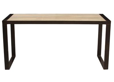 Industrieller Design-Schreibtisch INDUSTRIA aus Massivholz
