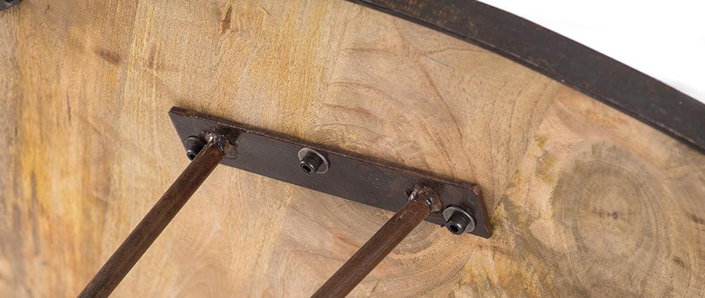 Industrieller Esstisch Holz und Metall D125 ATELIER