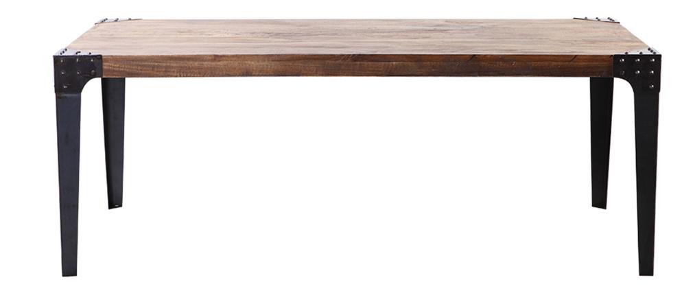 Industrieller Esstisch MADISON Metall und Holz