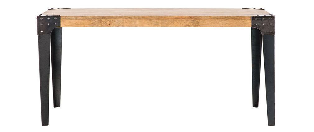 Industrieller Esstisch MADISON Stahl und Holz 160 cm