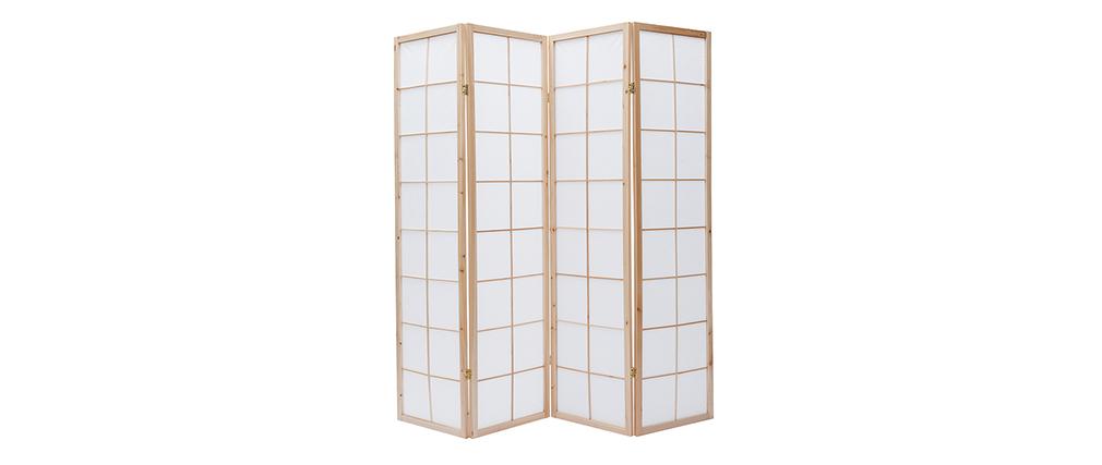 Japanischer Paravent IKUYO, Holz und Papier