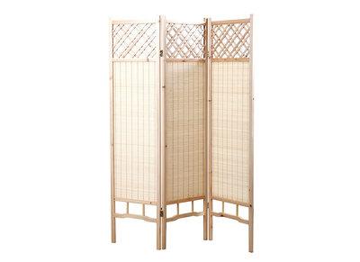 Japanischer Paravent NEW HIHA, Tanne und Bambus
