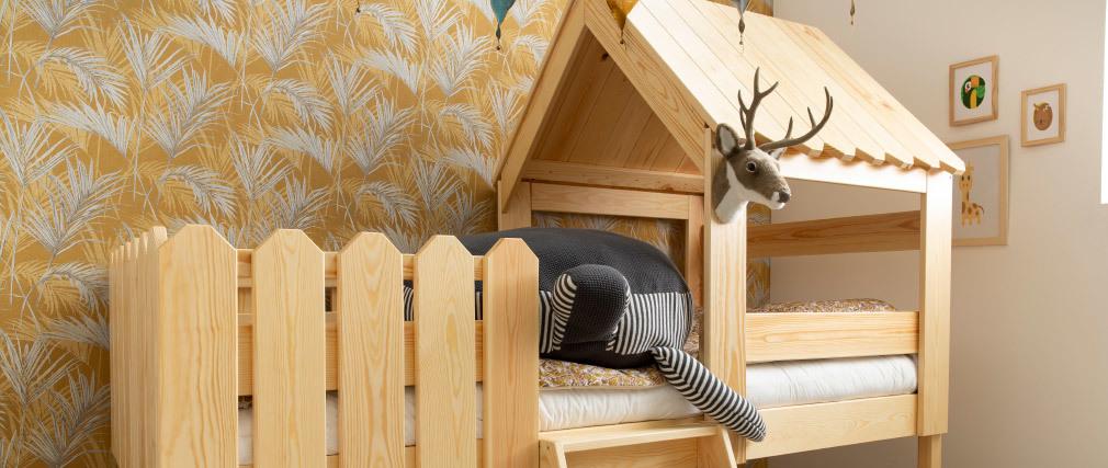 Kabinenbett Kinder Weiß LITTLE HOUSE