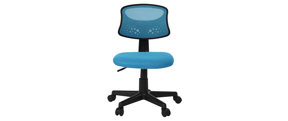 Kinder-Bürostuhl Blaues Mesh - MEL