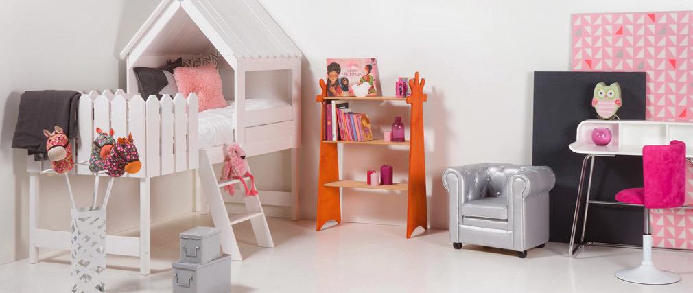 Kinder-Bürostuhl NEW MARCHANDE Rosa und Weiß