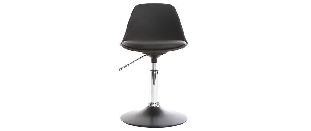 Design schreibtischstuhl  Kinder-Design-Schreibtischstuhl Schwarz STEEVY - Miliboo