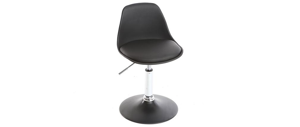 kinder design schreibtischstuhl schwarz steevy miliboo. Black Bedroom Furniture Sets. Home Design Ideas