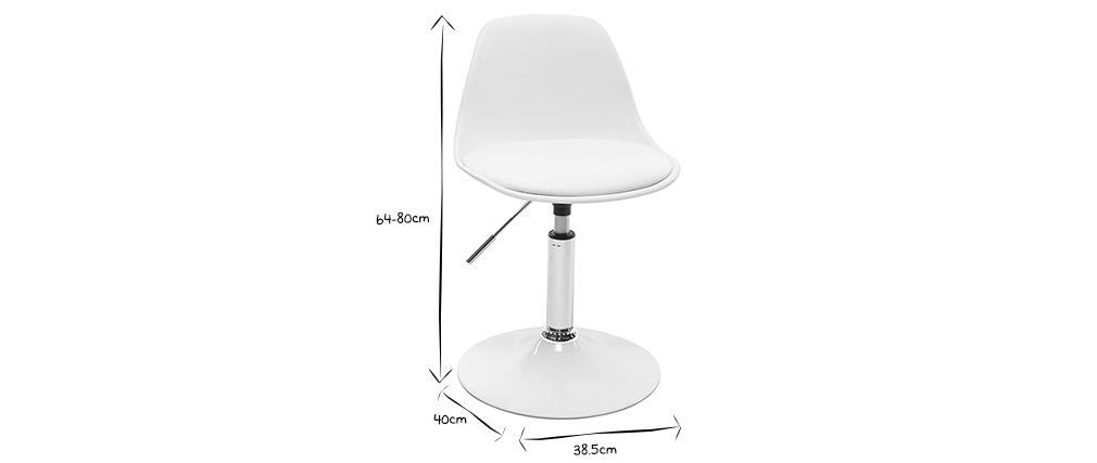 Kinder-Design-Schreibtischstuhl Weiß STEEVY
