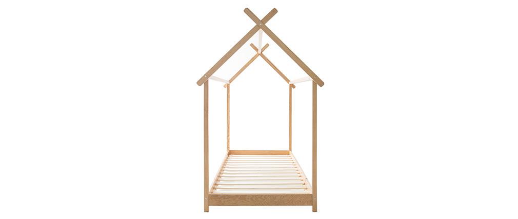 Kinder-Hüttenbett mit Lattenrost Holz 90x190 cm KBANE