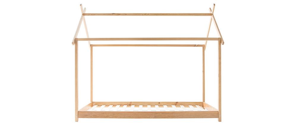 Kinder-Hüttenbett mit Lattenrost Holz 90x200 cm KBANE