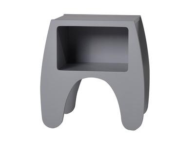 Kinder-Nachttisch matt grau lackiert KIDDO