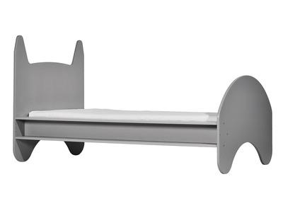 Kinderbett aus matt grau lackiertem Holz 90 x 190 cm KIDDO