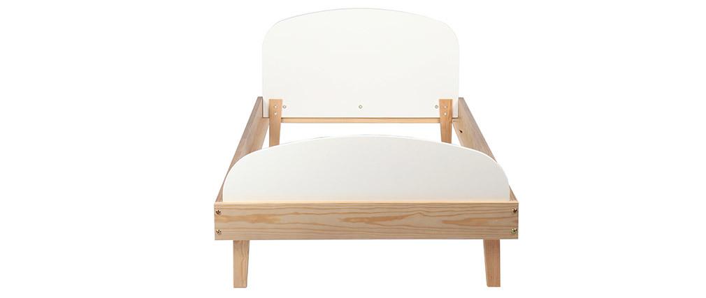 Kinderbett in Holz und Weiß KUNG