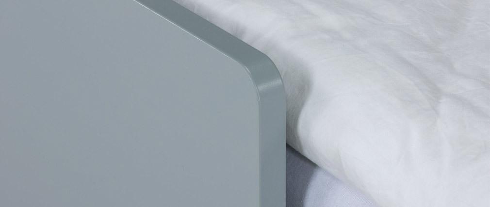 Kinderbett mit Schubladen 90x190 cm Rosa, Weiß und Grau JULES