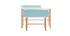 Kinderschreibtisch mit Bank Blau mit hellem Holz BERTY