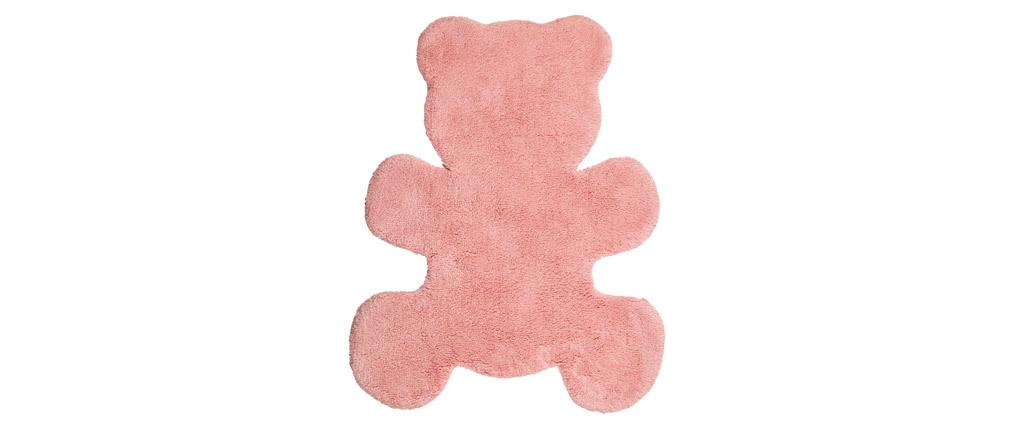 Kinderteppich aus Baumwolle Rosa 80x100cm TEDDY