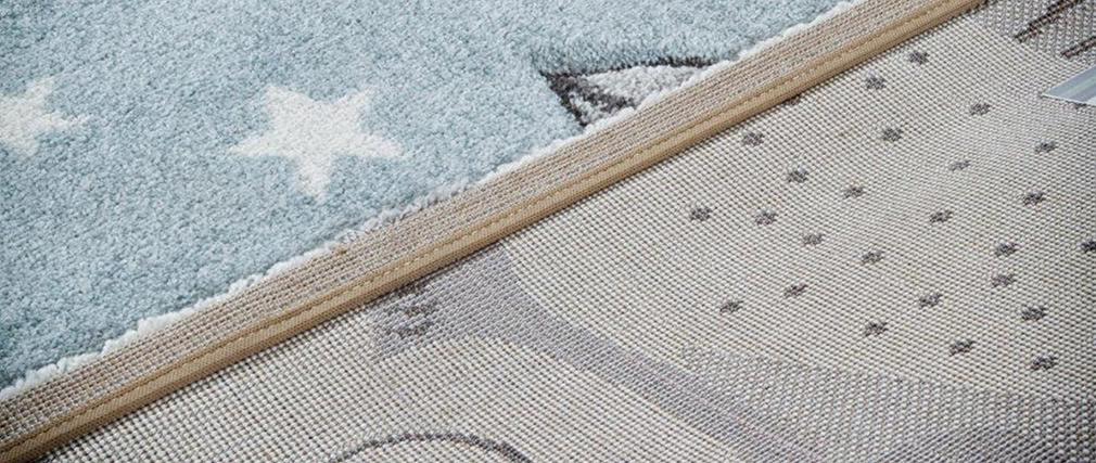 Kinderteppich mit grauem und blauem Bärenmotiv 100 x 150 cm TITI