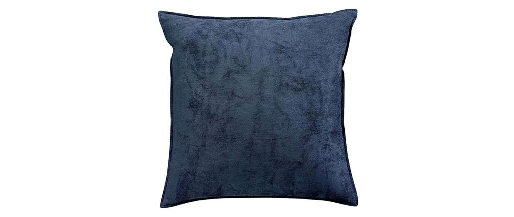 Kissen aus Velours Blau 45 x 45 cm ALOU