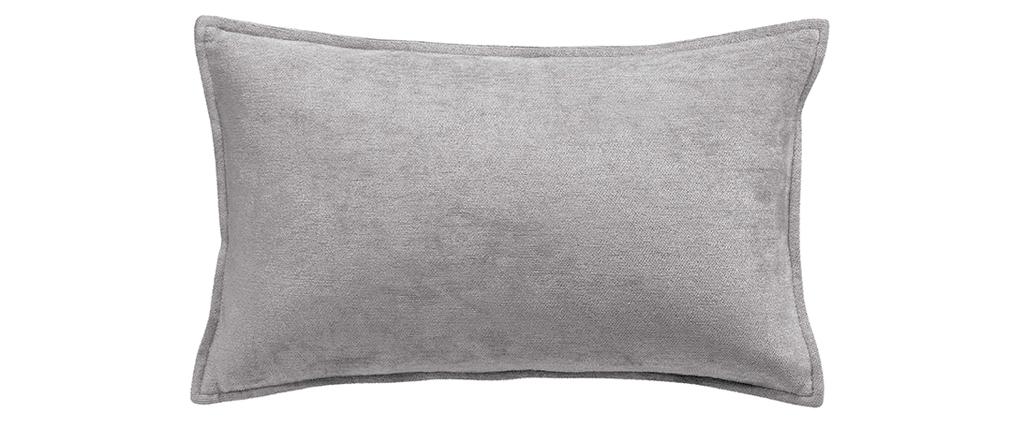 Kissen aus Velours Grau 30 x 50 cm ALOU