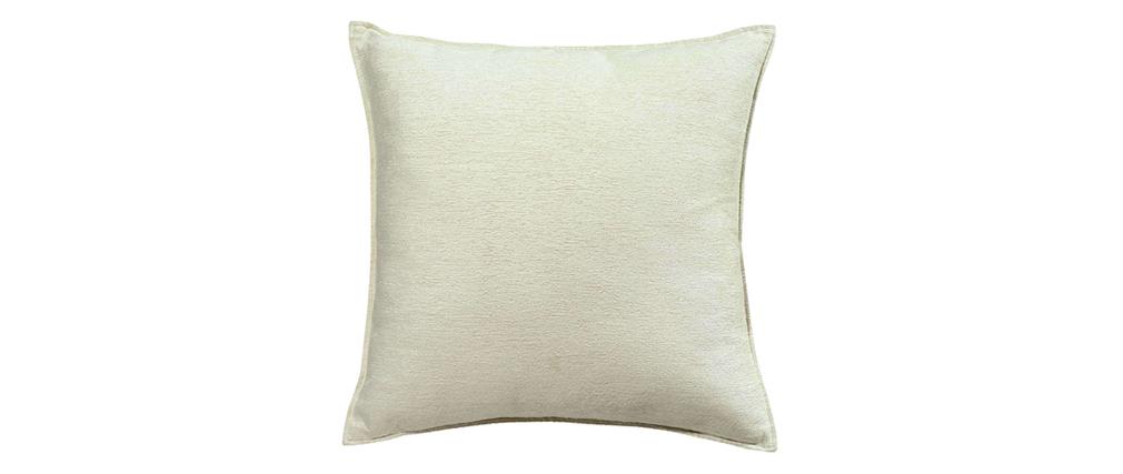 Kissen aus Velours Weiß 45 x 45 cm ALOU