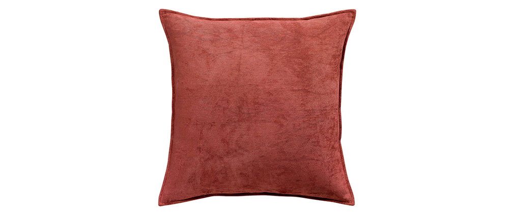 Kissen aus Velours Ziegelrot 45 x 45 cm ALOU