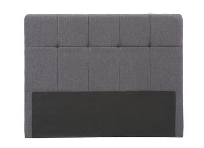 Klassischer Bettkopfteil, dunkelgrauer Stoff, 140 cm CLOVIS