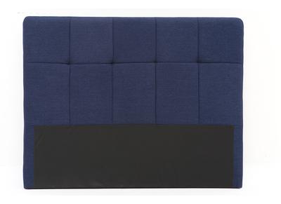 Klassisches Bettkopfteil, dunkelblauer Stoff, 140 cm CLOVIS