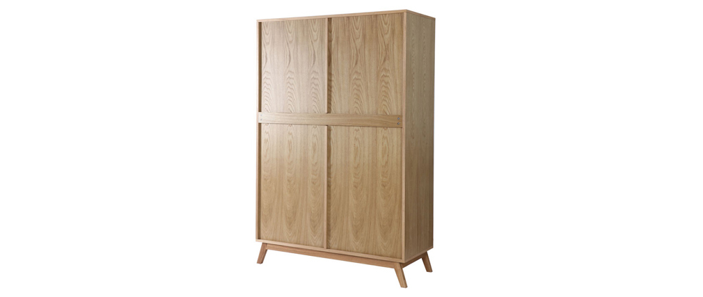 Kleiderschrank 2 Türen skandinavisches Design HELIA