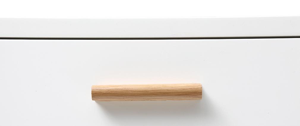 Konsole Eiche und Weiß L120 cm GILDA