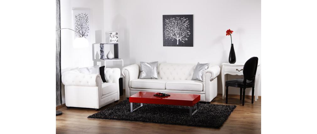 Konsole / Nachttisch  LOUISA - 1 Schublade 76 cm -  weiß
