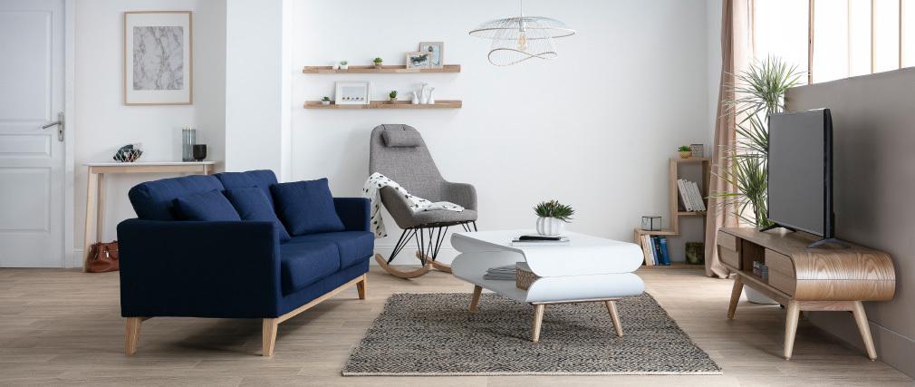 Konsole Skandinavisch Weiß und helles Holz LEENA