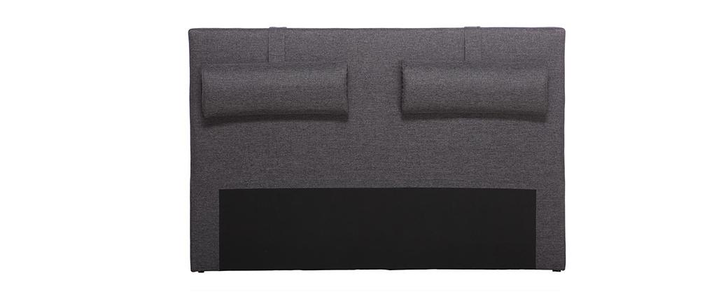 Kopfende Bett 150 cm Dunkelgrau LORRY (für Bett 140)