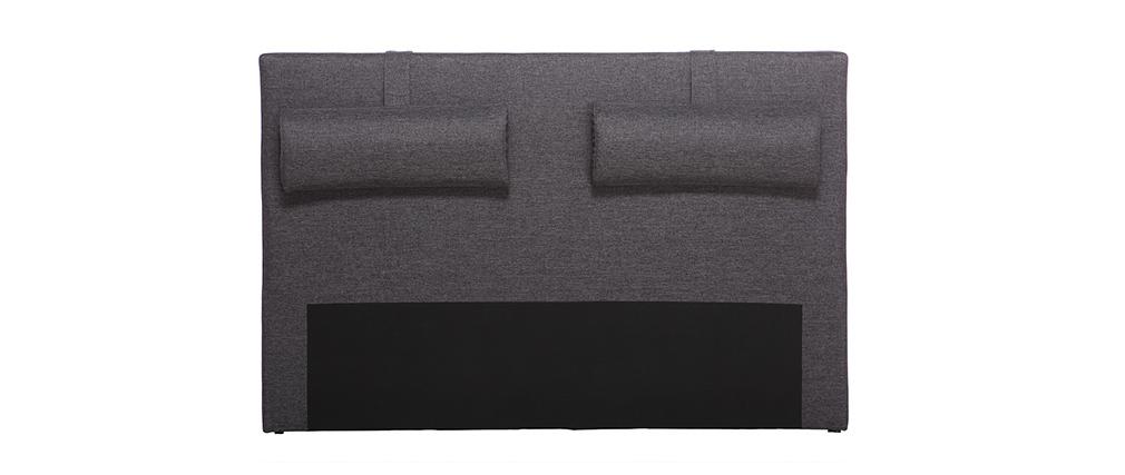 Kopfende Bett 170 cm Dunkelgrau LORRY (für Bett 160)