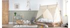 Korbsessel aus Rattan naturfarben für Kinder MALACCA